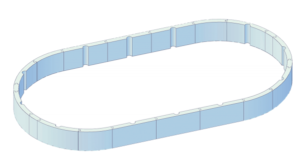 Steirerbecken Pool Protector Oval