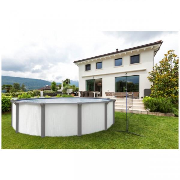 Steirerbecken Pool Supreme White Design rund