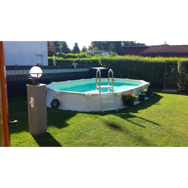Steirerbecken Pool Supreme Premium All Inklusive weiß