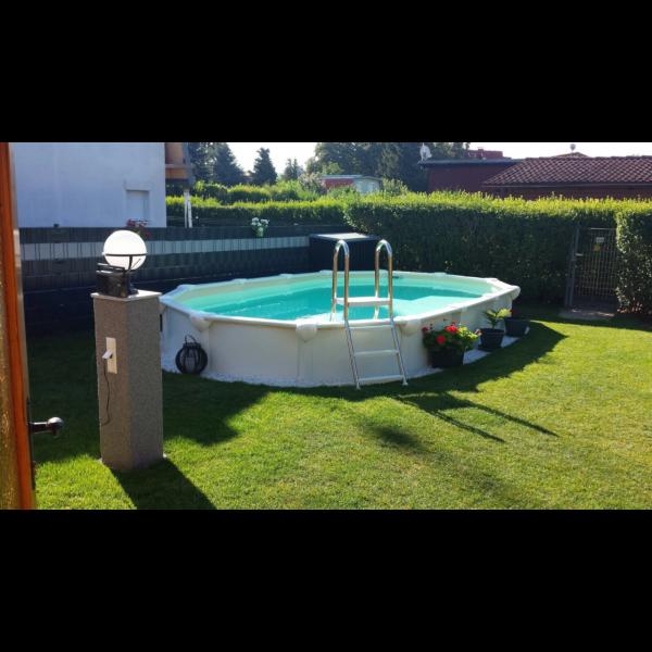 6,1x3,7x1,32m Steirerbecken Premium All Inklusive Stahlwandbecken oval weiß