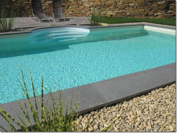 6,0x3,0m Steirebecken Pool Granit Padang Dark Set
