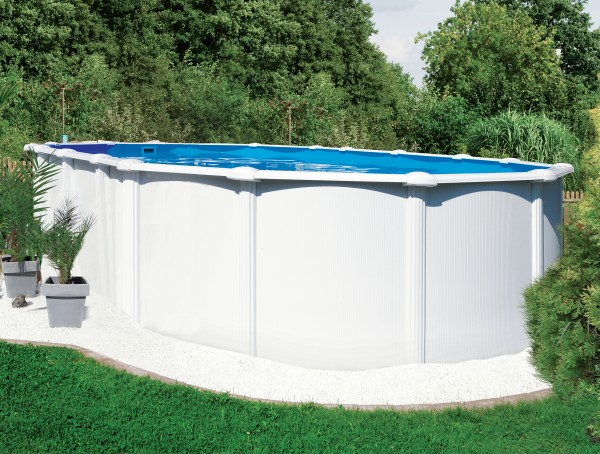 Steirerbecken Pool SUPREME OV132 WEISS