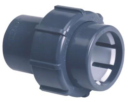 PVC Fitting Übergangsverschraubung Ø 50Klemm auf Ø 50mm Klebemuffe